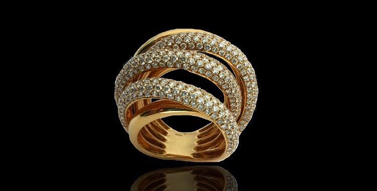 Braided Diamonds Ring II