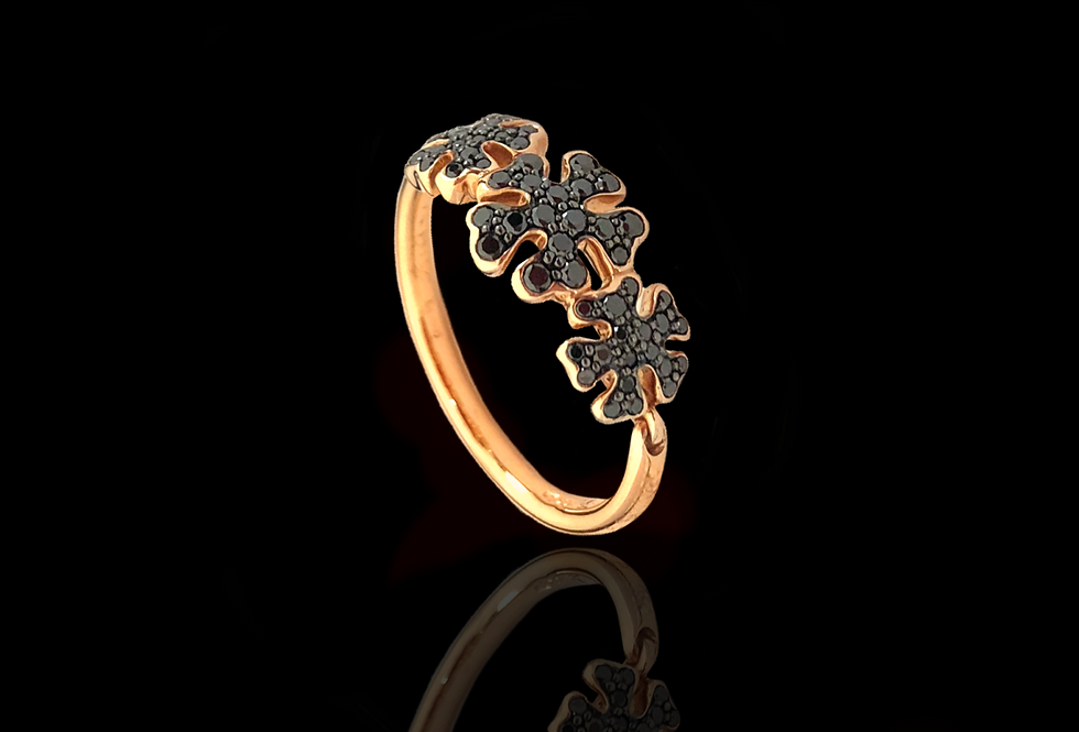 Diamond Snowflake Ring - BlackDM