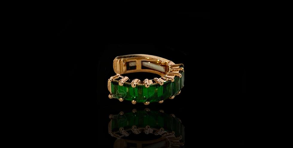 Earcuff Baguette - Emeralds