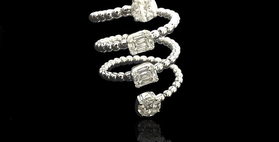 Spiral Diamonds Ring