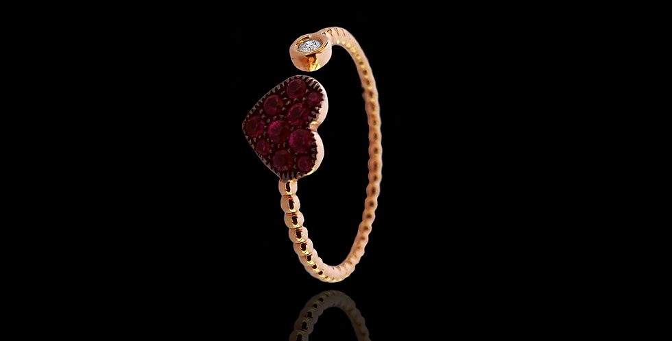 Open Ring - Rubies