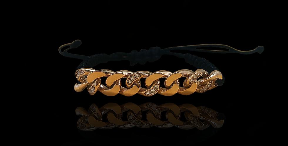 Diamond Groumette Bracelelet - Rose Gold