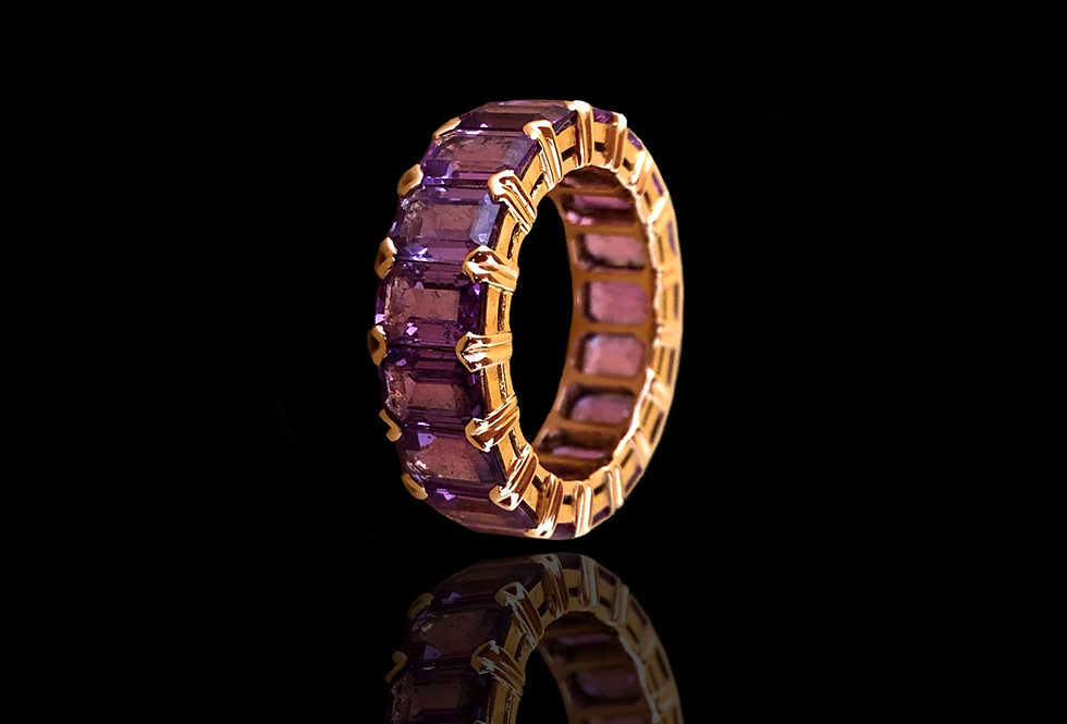 Eternity Amethyst Ring - Baguette