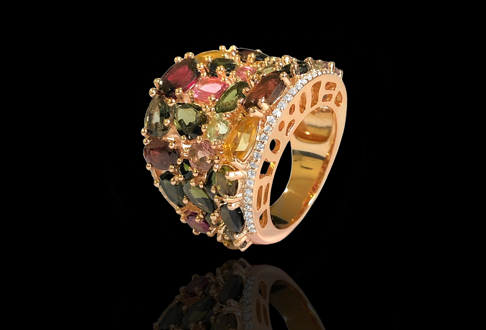 Sapphires Multicolor Ring