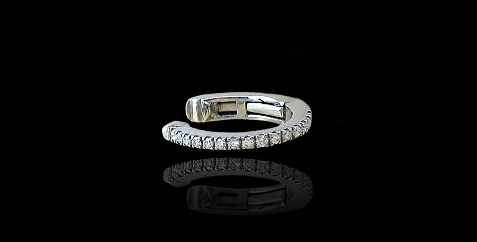 Diamond Earcuff - Small White