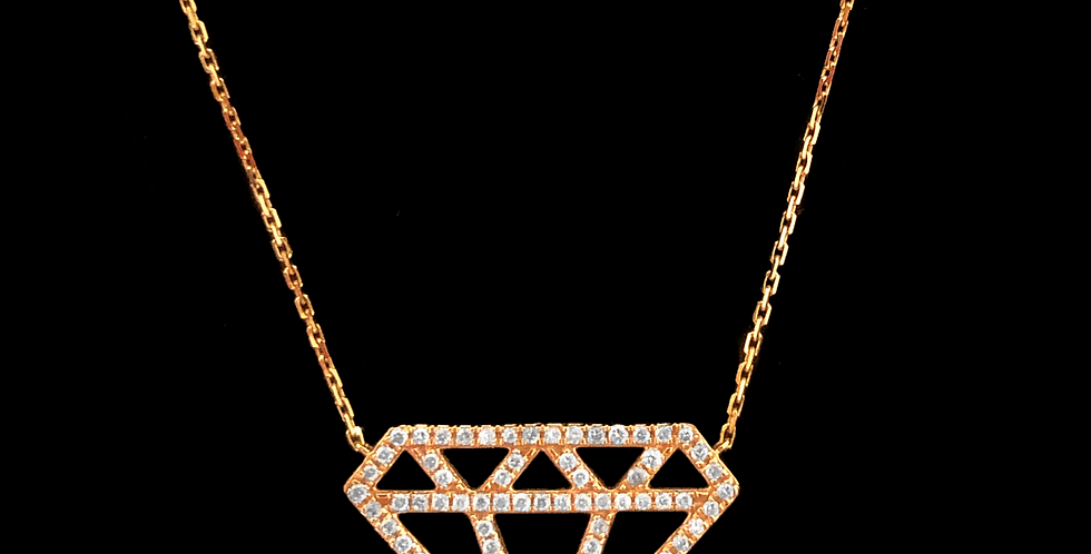 Diamond Choker - Pink Gold