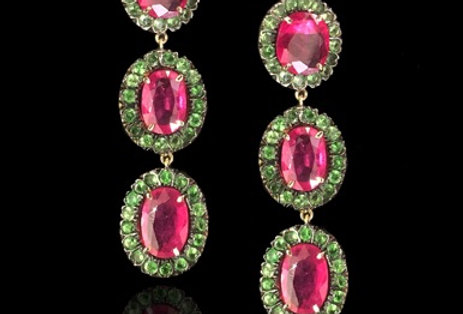 Emeralds&Rubies Earrings - Indian Collection