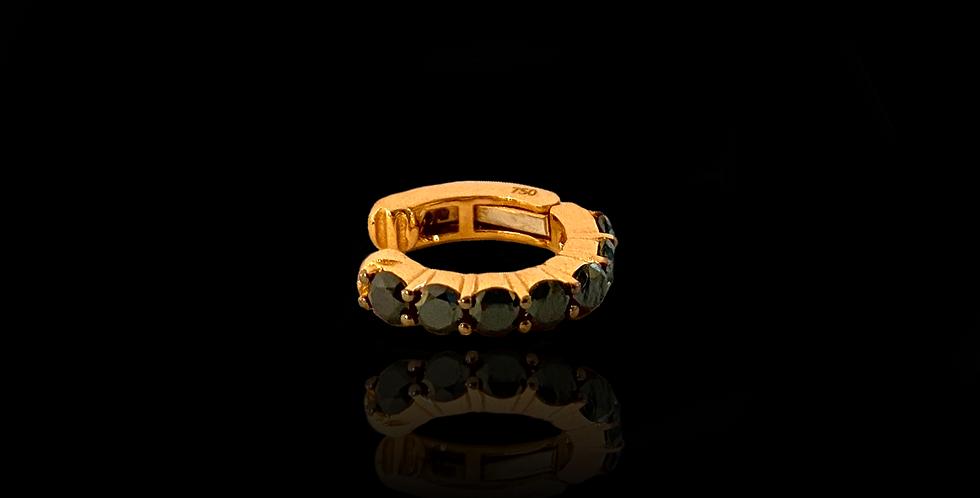 Black Diamond Earcuff Round - Rose Gold