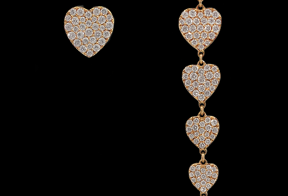 Stacked Hearts Earrings