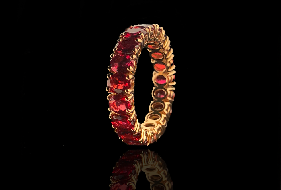 Eternity Ruby Ring - Ovals