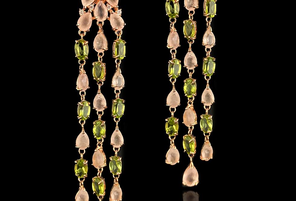 Quartz&Peridot Earrings