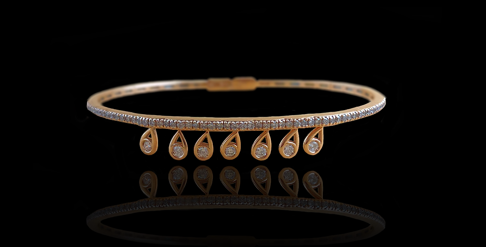 Diamond Motion Bracelet - Gold