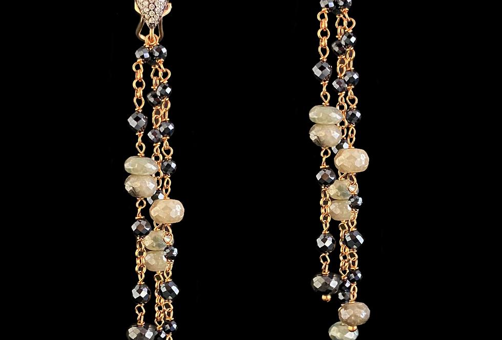 Spinel&Sapphire Earrings