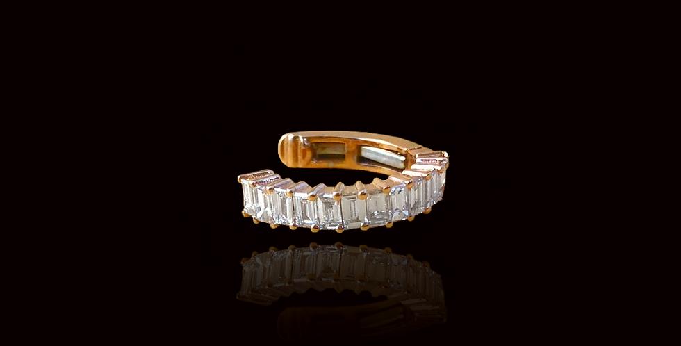 Diamond Earcuff - Baguette