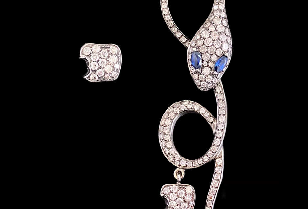 Snake Earrings with Apple