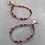 Thumbnail: Rubies,Quatz&Sapphires Earrings