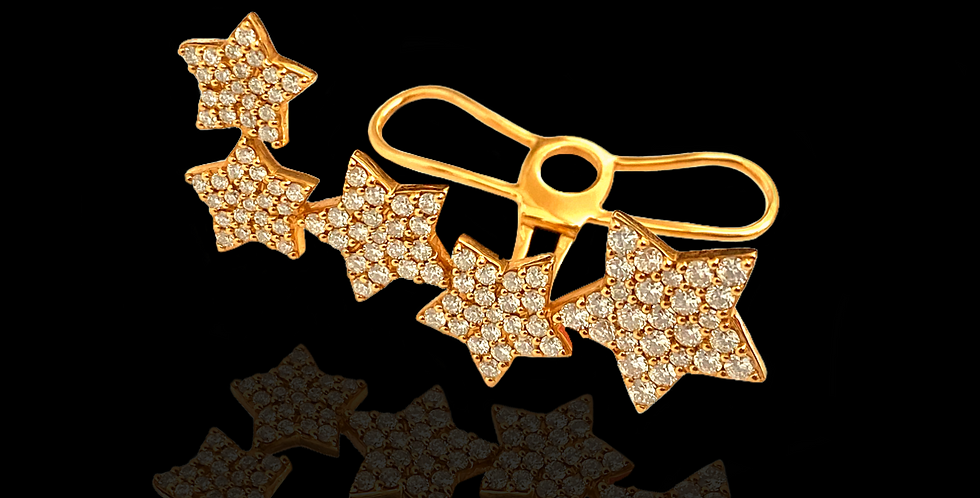 Diamond Stars Earcuff