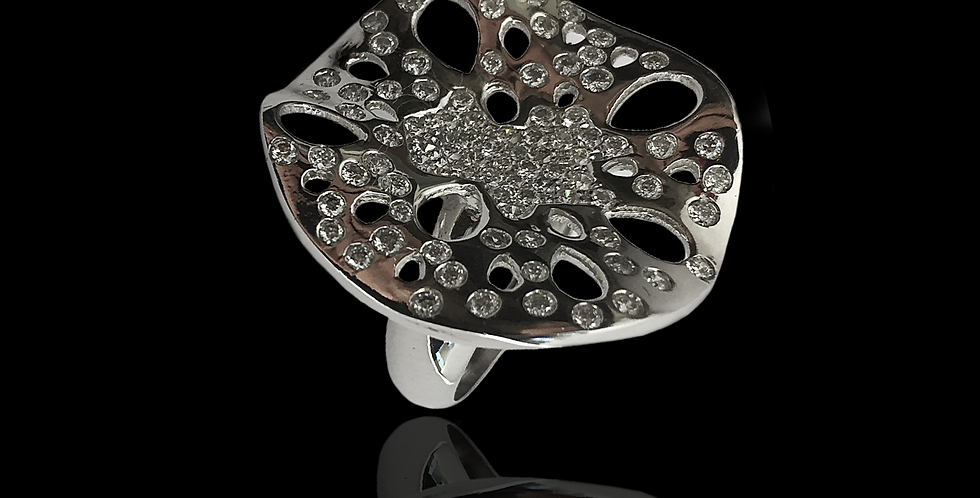 Leaf Diamonds Ring