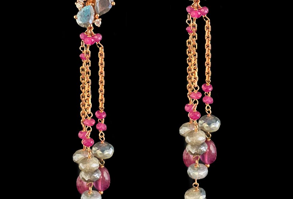 Tourmaline&Sapphire Earrings