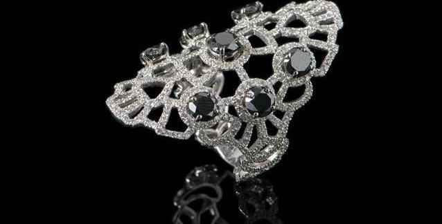 Arabesque Ring - Black