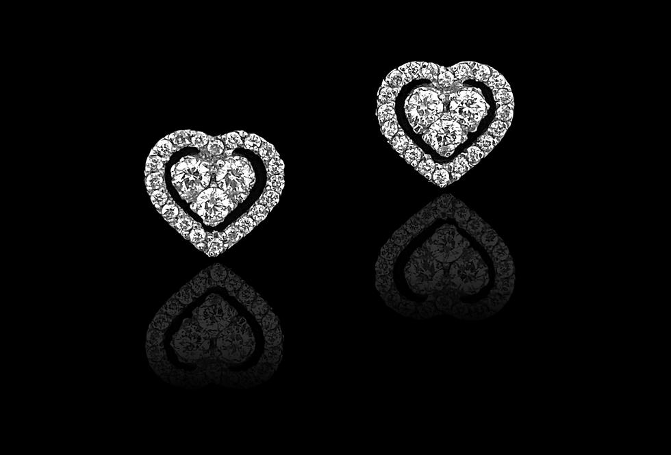 Heart Light Point Earrings
