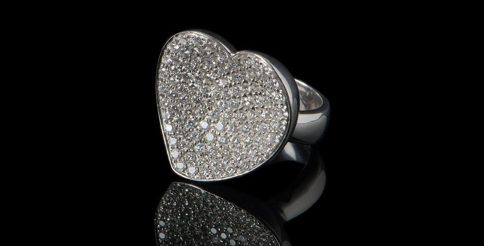 Love White Diamond Ring