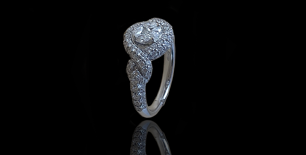 Twist Ring - White Gold