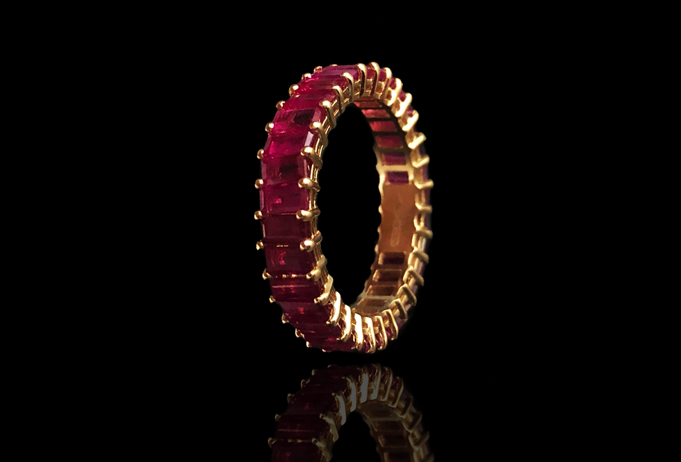 Eternity Ruby Ring - Baguette