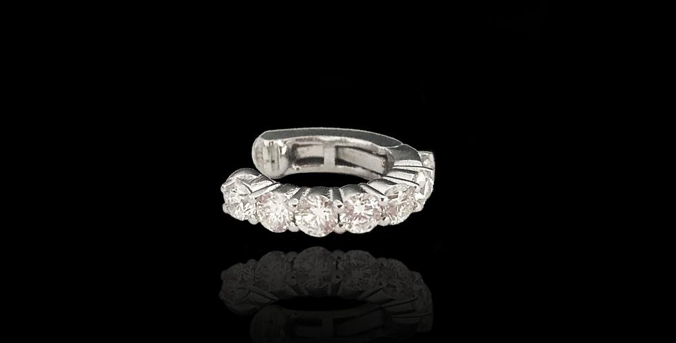 Diamond Earcuff Round - White Gold