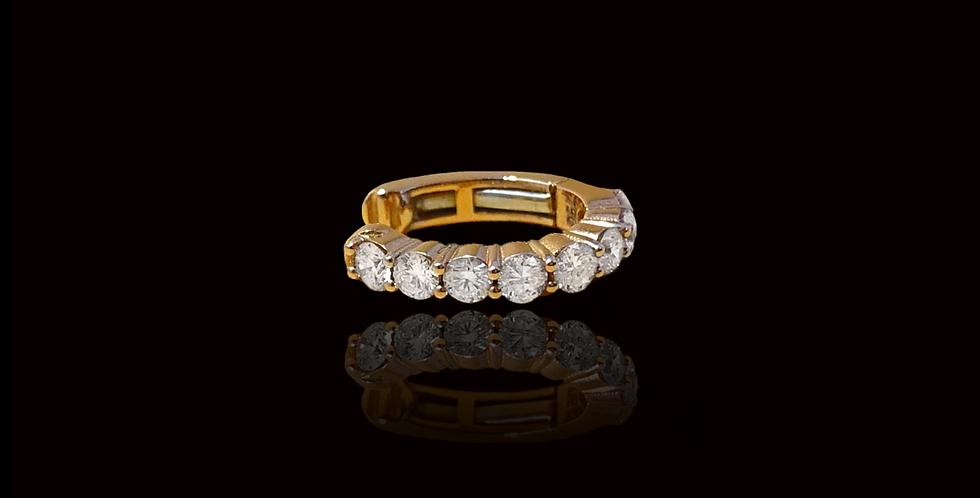 Diamond Earcuff Round - Rose Gold