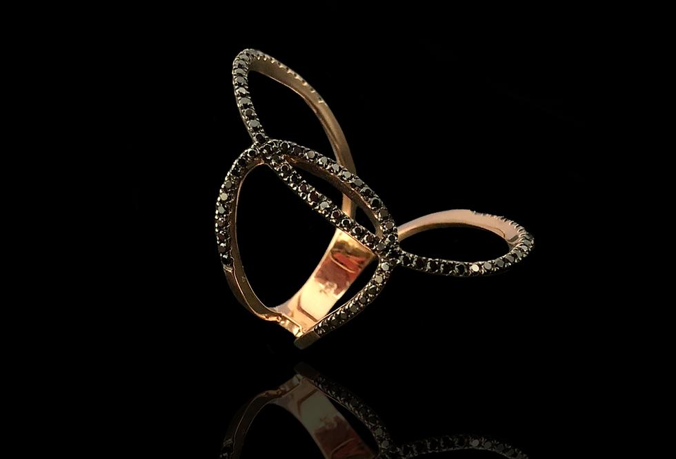Intertwined Diamonds Ring