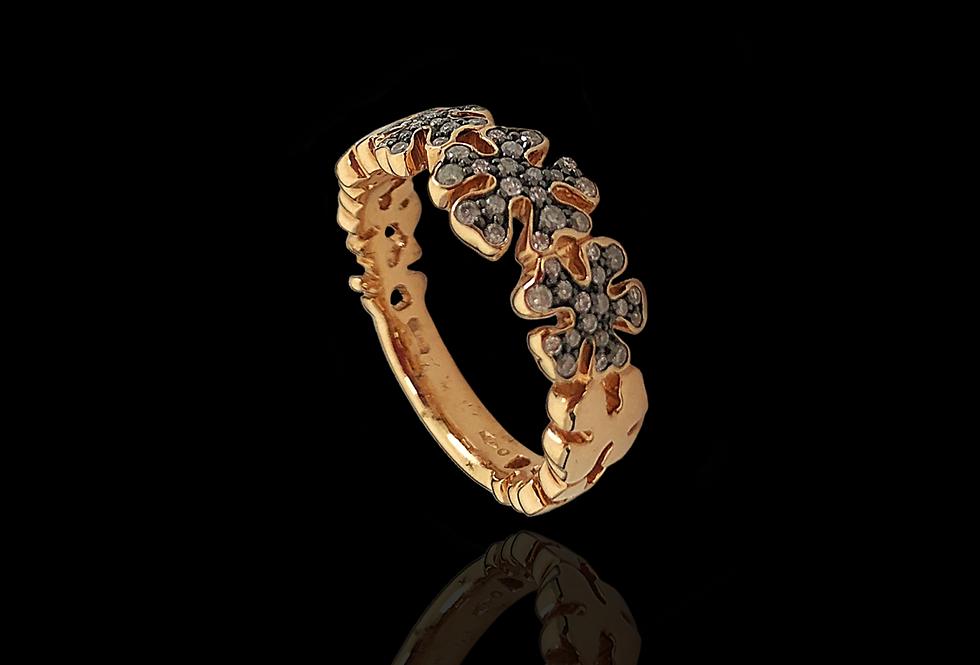 Eternity snowflake Ring - BrownDM