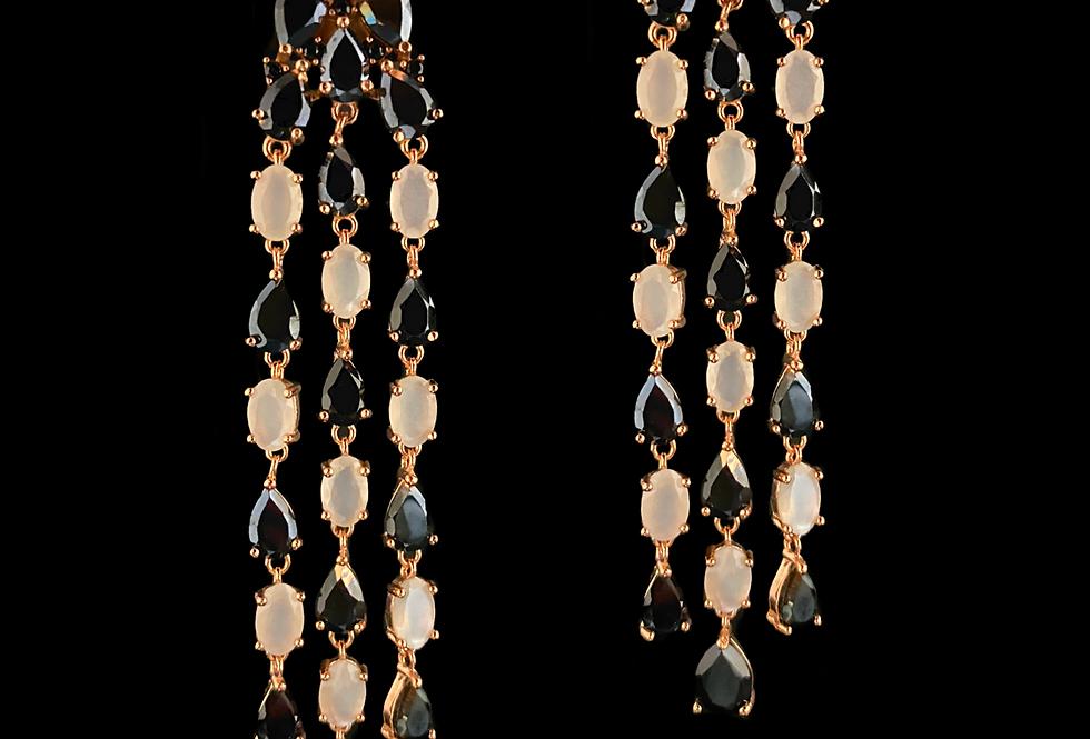 Spinel&MotherOfPearl Earrings