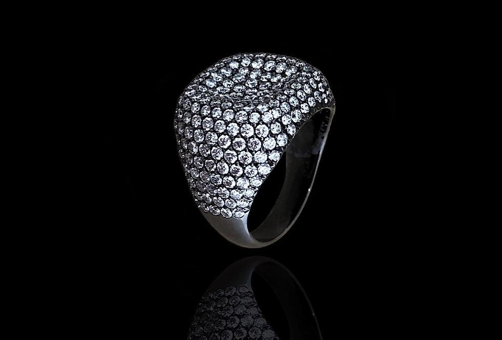Square Chevalier Ring - White DM