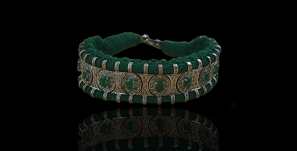 Handmade Indian Bracelet - Green