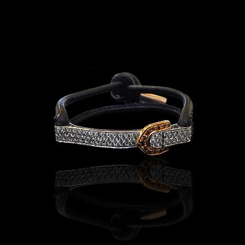 Diamond Belt Bracelet