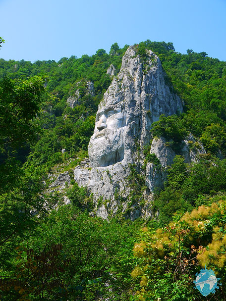 Decebalus Head, Romania road trip, Romania