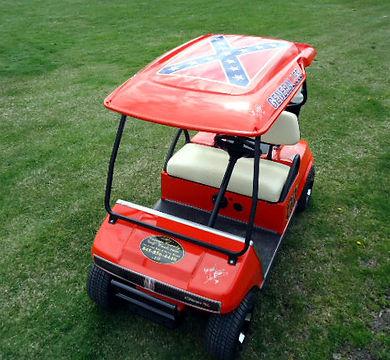General Lee Duke Boys golf Cart