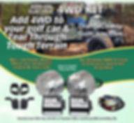 Golf Cart 4 Wheel Drive kit
