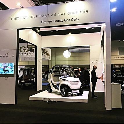 luxury golf car at pga