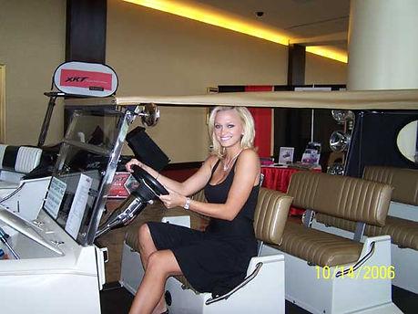 Laurie Jo Fetter Playboy Luxury custom golf carts Diane