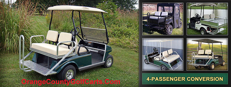 golf cart rear seats