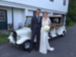 Wedding golf cart
