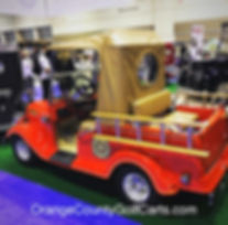fire truck golf cart