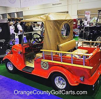 fire truck golf cart