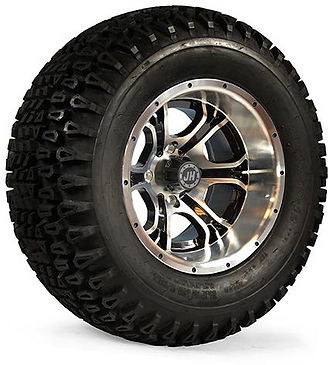 custom golf cart wheels tires