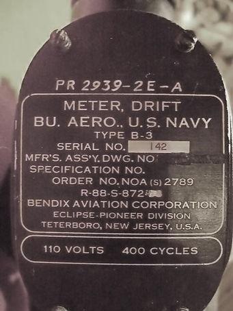 Bomb Drift Sight, U.S. Navy