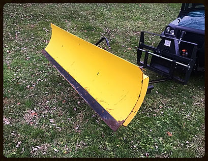 """Used Snow Plow with elec winch 82"""""""