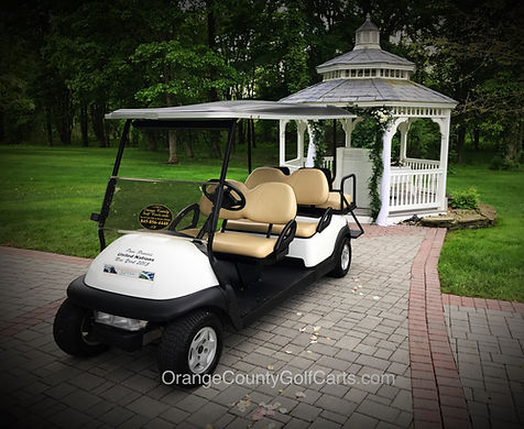 Golf Car wedding rentals