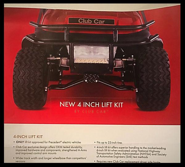 4 inch lift kit club car